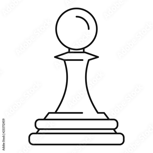 Obraz na plátně White pawn piece icon