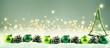 canvas print picture - Weihnachten  -  Winterlicher Hintergrund mit Weihnachtsdeko