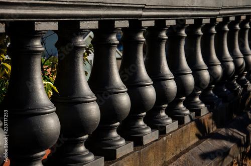 Fotomural Black balustrade perspective