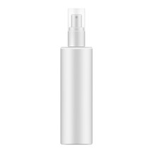 White Cosmetic Spray Bottle With Clear Transparent Lid, Realistic Mockup
