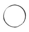 Leerer schwarzer Kreis Abdruck