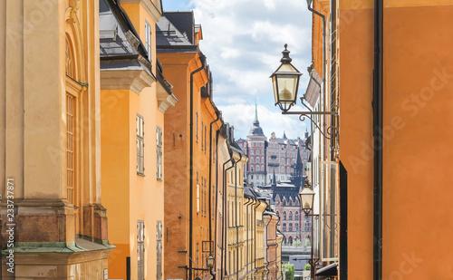 Fotobehang Stockholm Altstadt von Stockholm, Schweden