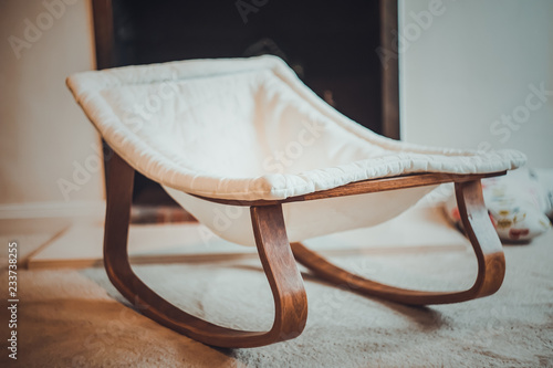 Wooden Baby Rocker Buy This Stock Photo And Explore Similar