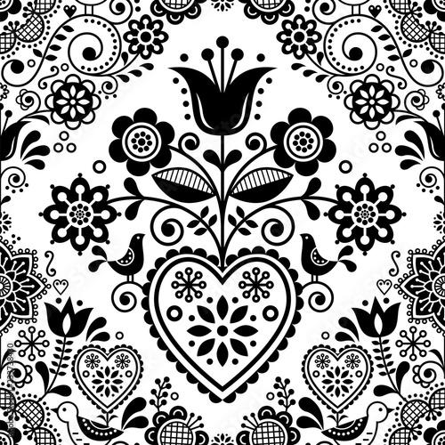 bezszwowe-sztuka-ludowa-wektor-wzor-z-ptakow-i-kwiatow-skandynawskich-lub-nordyckich-czarno-bialych-powtarzalnych-kwiatow