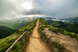 Path in the mountains of Sao Miguel Azores
