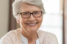 Senior Woman Wearing Spectacles