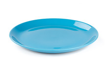 Blue Pastel Plate Isolated On ...