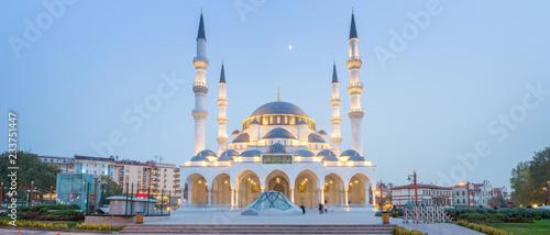 Photo Panorama of Melike Hatun Mosque, near Genclik Park in Ankara, Turkey