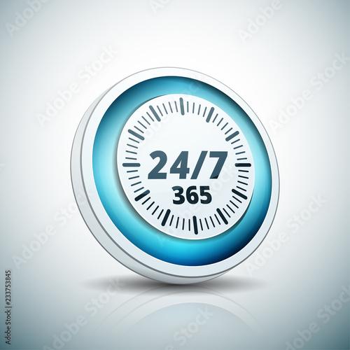 Fényképezés  24 hours Support button illustration