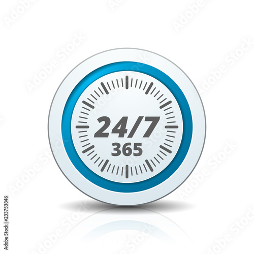 Fotografia, Obraz 24 hours Support button illustration