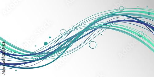 sfondo, grafica, linee, ondeggiate, onda Fotobehang