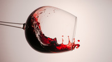 Splashes Of Red And White Wine