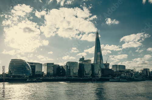 London city skyline with the Thames