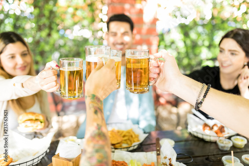 Fotografie, Obraz  Celebrating The Joy Of True Friendship