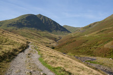 Footpath To Helvellyn Mountain...
