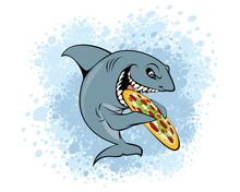 Shark Eating Pizza