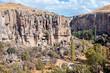 landscape of Ihlara Valley in Cappadocia