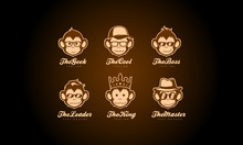 Monkey Head Logo Collection - ...