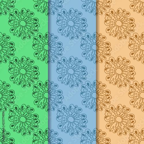 Fototapeta floral seamless pattern with flowers obraz na płótnie