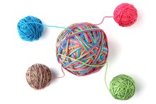 Colorful Cotton Big Thread Bal...