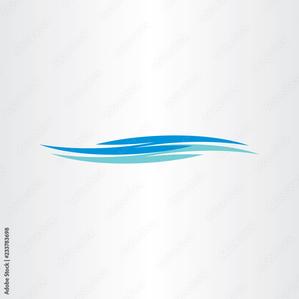 Fototapety, obrazy: river flowing water waves logo icon