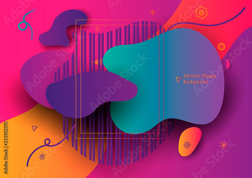 Fotografía  Abstract Banner with Ultra color gradient shape
