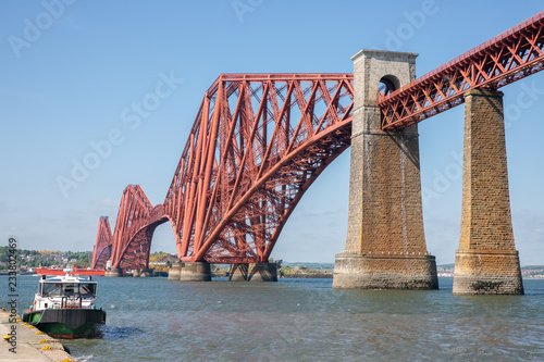 Recess Fitting Bridge Forth Bridge over Firth of Forth near Queensferry in Scotland