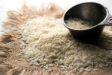 Close Up Of Uncooked Basmati R...