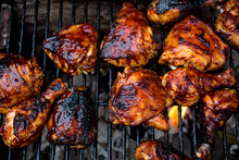 Close Up Of Barbecue Chicken O...