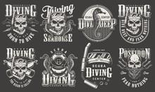 Vintage Monochrome Diver Label...