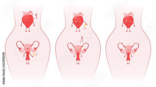 The relationship of the uterus and the heart of a girl (woman) Canvas-taulu