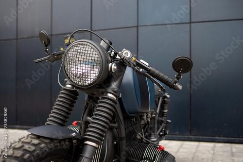 Foto Vintage rebuilt motorcycle motorbike caferacer