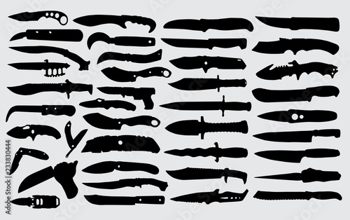 Knife silhouette good use for symbol, logo,web icon,mascot,sign or any design yo Fototapeta