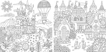 Coloring Pages With Fantasy Ca...