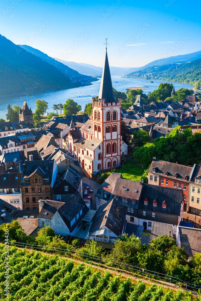 Fototapeta Bacharach old town in Germany