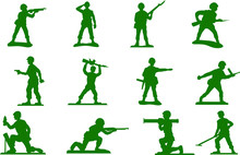Toy Green Army Men Plastic Soldiers Vector Cut File Home Decor Printable Wall Art Decal