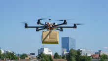 CLOSE UP: UAV Drone Delivery D...