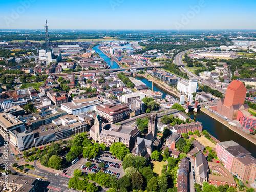 Foto auf Leinwand Nordeuropa Duisburg city skyline in Germany