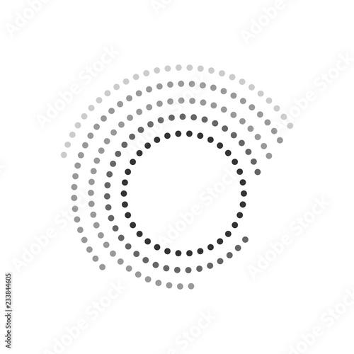 Fotografie, Obraz Концентрический круглый геометрический элемент. Полутона.
