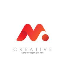 M N Logo With Modern Concept Vector Illustration