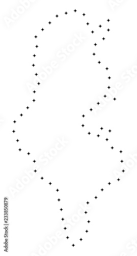 Vector Stroke Dot Tunisia Map In Black Color Small Border Points Have Diamond Shape Track The Path Points And Get Tunisia Map Educational Geographic Sketch For Tunisia Map Quiz Buy This