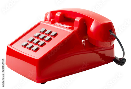 Vintage telecommunication technology and retro household