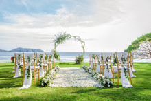 Romantic Wedding Ceremony On The Beach In Phuket, Thailand.