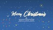 Animation of greeting Merry Christmas with firework
