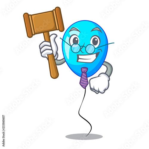 Fotografia, Obraz  Judge blue balloon bunch design on cartoon