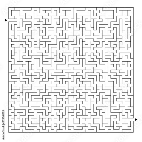Difficult square maze  Game for kids and adults  Puzzle for children