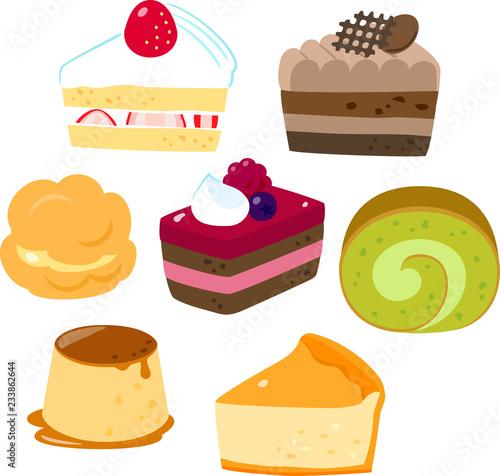 Fototapeta ケーキ、洋生菓子