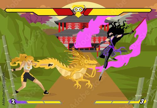 Fotografía  fighting videogame women