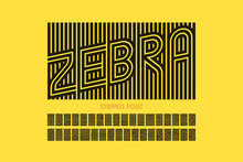 Striped Font Design, Alphabet ...