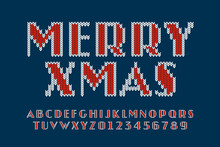 Knitted Font, Christmas Latin ...